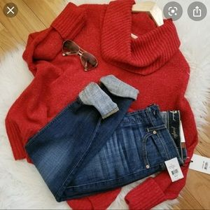 Red turtle neck Michael kors sweater oversized